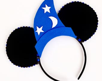 The Hat - Handmade Fantasia Mickey Inspired Mouse Ears Headband