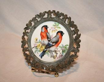 Vintage Finch Ceramic Plaque