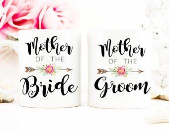 Mother of the Bride Mug, Groom's Mom Gift, Bride's Mom Gift, Mother of the Groom Mug, Wedding Party Gift for Parents, Wedding Mug
