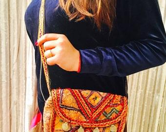 Vintage Bag, Handmade Bag, Sling Bag, Shoulder Bag, Boho Bag, Clutch, Cross body Bag, Antique Bag, Vintage Purse, Tribal Bag, Gift idea