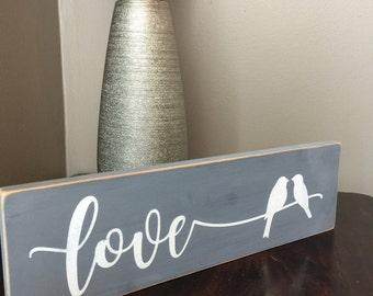 Love bird sign, home decor