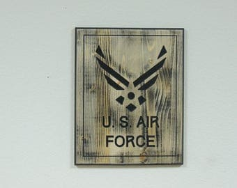 U S Airforce ( Carved sign)