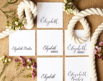 Stylish calligraphy place cards
