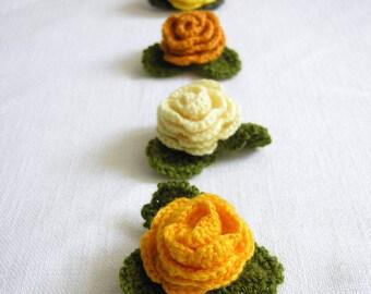 Crochet brooch Rose