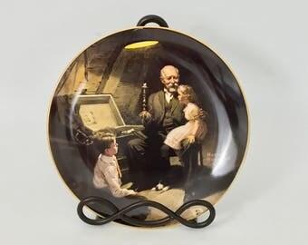 "Norman Rockwell's "" Grandpa's Treasure Chest"" Collectible Plate"