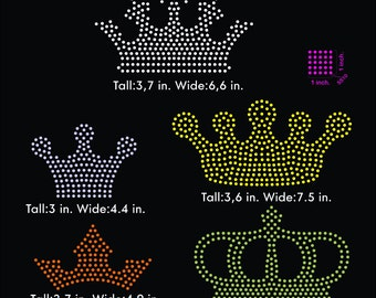 Crown, crowns rhinestone templates digital download, svg, eps, studio3, png, dxf
