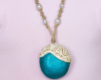 "Moana Necklace with Removable Glow in the Dark ""Heart of Te Fiti"""