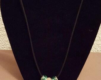 Green and Pink Murano Beads
