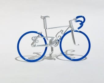 Miniature Road Bike, Bicycles and Cycling, Cake Topper, Bicycle Cake Topper, Hand Crafted, Road Bike, Bl-Bl-Bl