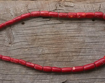 Tapered Coral Barrel Beads for Necklace
