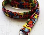 Teachers lanyard - autism awareness lanyard - autism lanyard - key lanyard - rainbow lanyard - ID badge holder - mom lanyard - autism