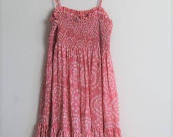 vintage silk shibori dress// medium