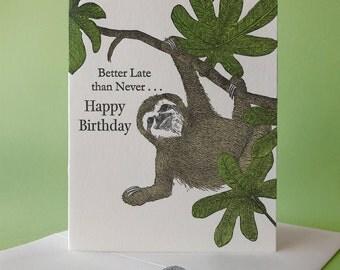 Cecropia Happy Birthday Card