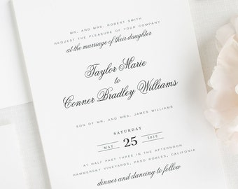 Taylor Wedding Invitation - Deposit