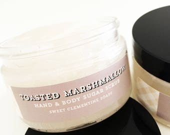 Toasted Marshmallow Sugar Scrub, Body Scrub, Hand Scrub, Body Polish