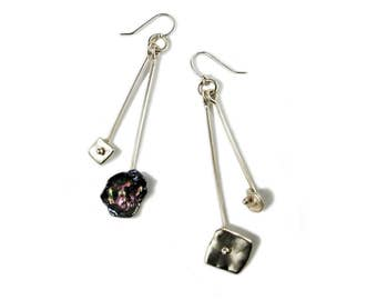 Keshi Pearls in Motion Waterfall Earrings