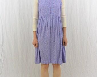 Vintage Floral Babydoll Dress, Size Small-Medium, Mori Girl, 90's Clothing, Kawaii, Pastel Goth, Natural Kei, Tumblr Clothes