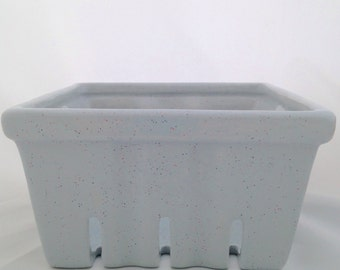 Gray Speckled Berry Basket - Silver Berry Container