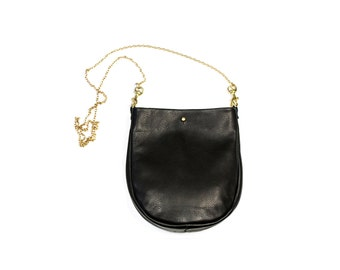 SUZIE Small Black Purse. Black Leather Bag. Small Leather Crossbody Bag. Small Leather Purse
