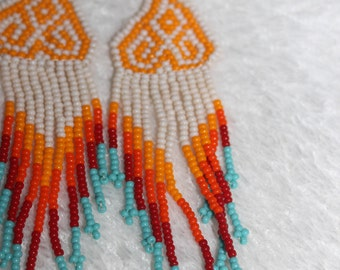 Huichol Peyote Beaded Earrings DD-2