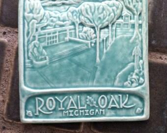 """Royal Oak Michigan 6x6"""" Art Tile free shipping!"""