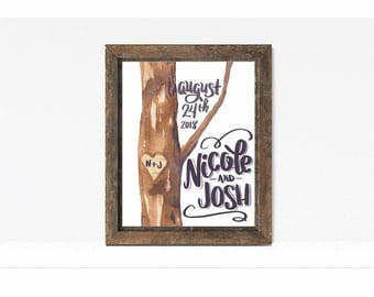 Printable Valentines Wedding Personalized Sign