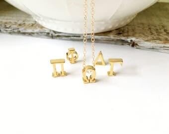 Greek Letter Necklace, Sorority Fraternity Greek Letter Necklace, Gamma, Omega, PI, DELTA, PHI, Graduation Gift