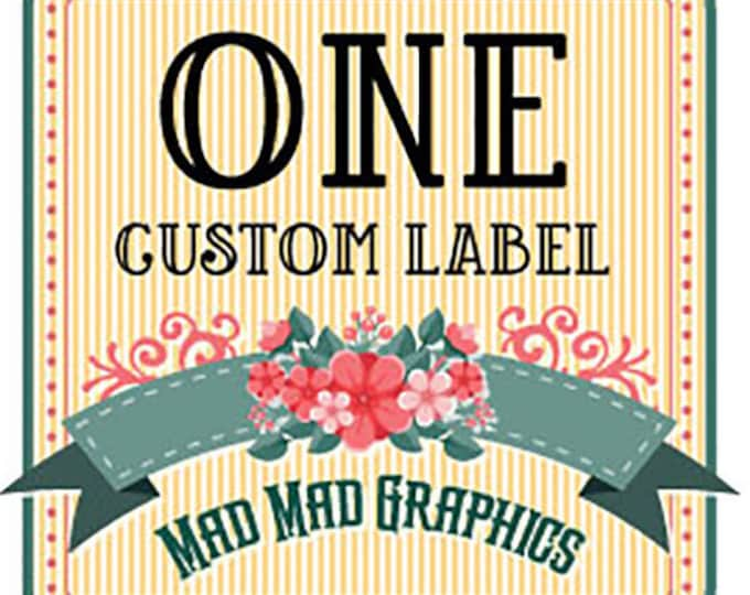 "One Custom Iron on or Sew on Fabric Label, Max size 4""x6"""