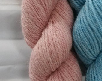 Yarn, Alpaca & Bamboo, Colorado grown, mill spun, Rosy Pink