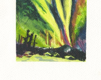 National Park Water Color Painting Original Art ready to hang