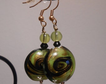 Green Glass Swirl Bead Item No. 58