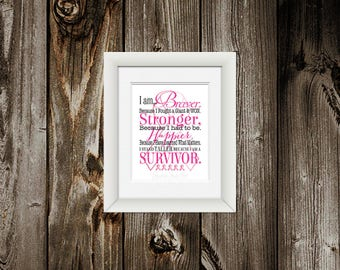 Breast Cancer Survivor Gift, Breast Cancer Awareness, Fighting Cancer, Pink Ribbon, Cancer Free WordArt, Customizable