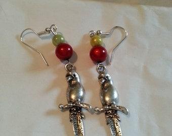 Whimsical Parrots Earrings
