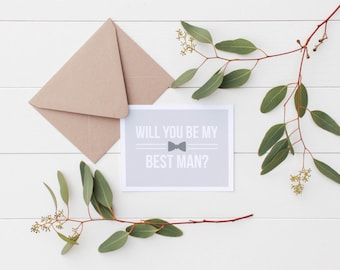 SALE Will You Be My Best Man Card - Groomsmen Gift - Will You Be My Best Man - Best Man Proposal - Groomsman Card