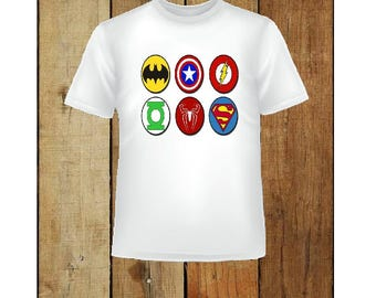 Toddler boy's or girl's Super Hero t-shirt 2t 3t 4t hero t-shirt batman flash,superman & more