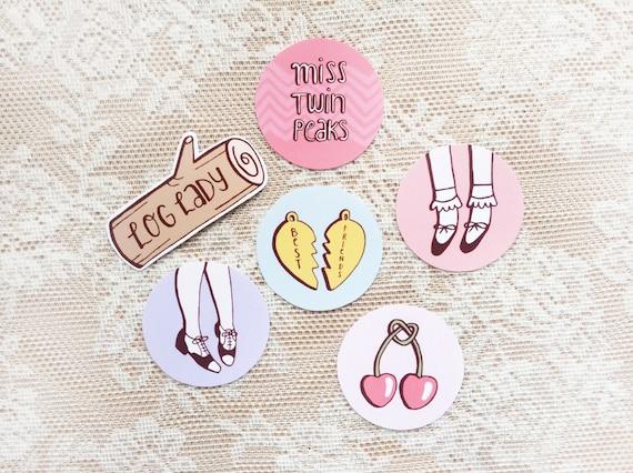 Twin Peaks Stickers Set Of 6 Pastel Miss Twin Peaks