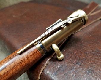 Bolt Action Pen - Bullet Pen - Rifle Pen - Wooden Gifts For Men - Wooden Pen - Wood Pen - Bullet Pen Brass - Gift For Hunter - Military Gift
