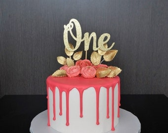 First Birthday Cake Topper, One Cake Topper, Birthday Cake Topper, 1st Birthday, First Birthday, Number ONE, Smash Cake Topper, ONE Cake Top
