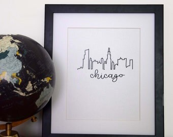 Chicago City Skyline Print
