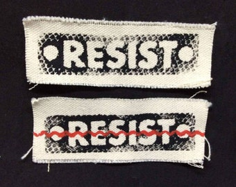Resist,Resist patch,political patch,protest patch,protests,political patches ,hat patch,tote patch,punk patches,punk patch,M