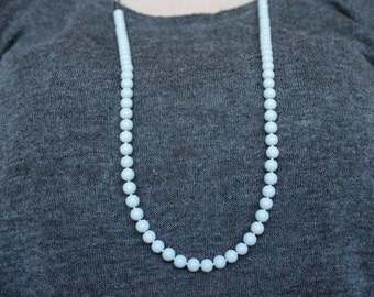 Blue and Navy Beaded Necklace