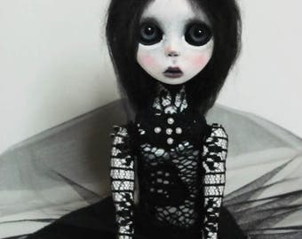 SALE-Handmade Collectible Unique -OOAK- Clay poseable Art doll -Cary