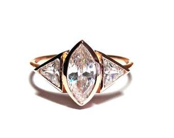 gold ring14k gold ring14k gold zirconia