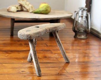 Wooden Stool - Farmhouse Stool - Step Stool - Milking Stool - Three Legged Stool - & Wood stool | Etsy islam-shia.org