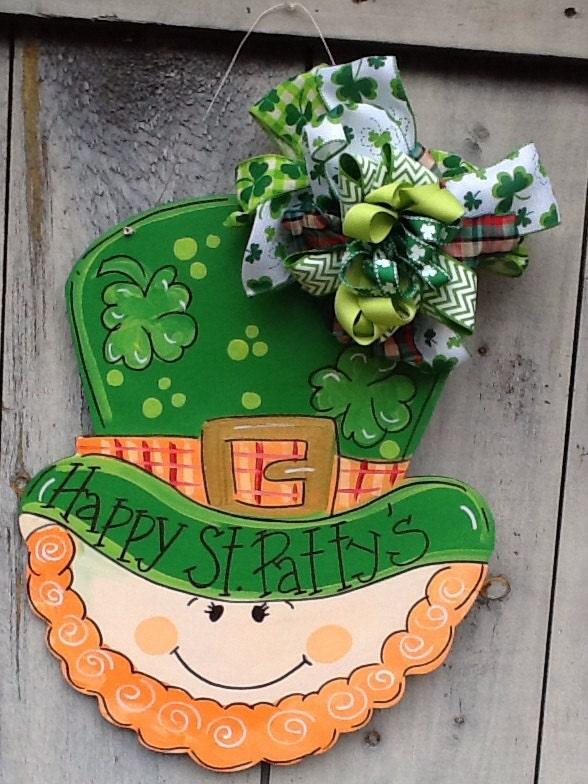 Patricks door hanger st. Patricks decoration leprechaun door hanger st. Partyu0027s door sign luck of the Irish & St. Patricks door sign st. Patricks door hanger st. Patricks ... pezcame.com