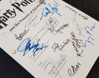 Harry Potter and the Prisoner of Azkaban Film Movie Script with Signatures/Autographs Reprint