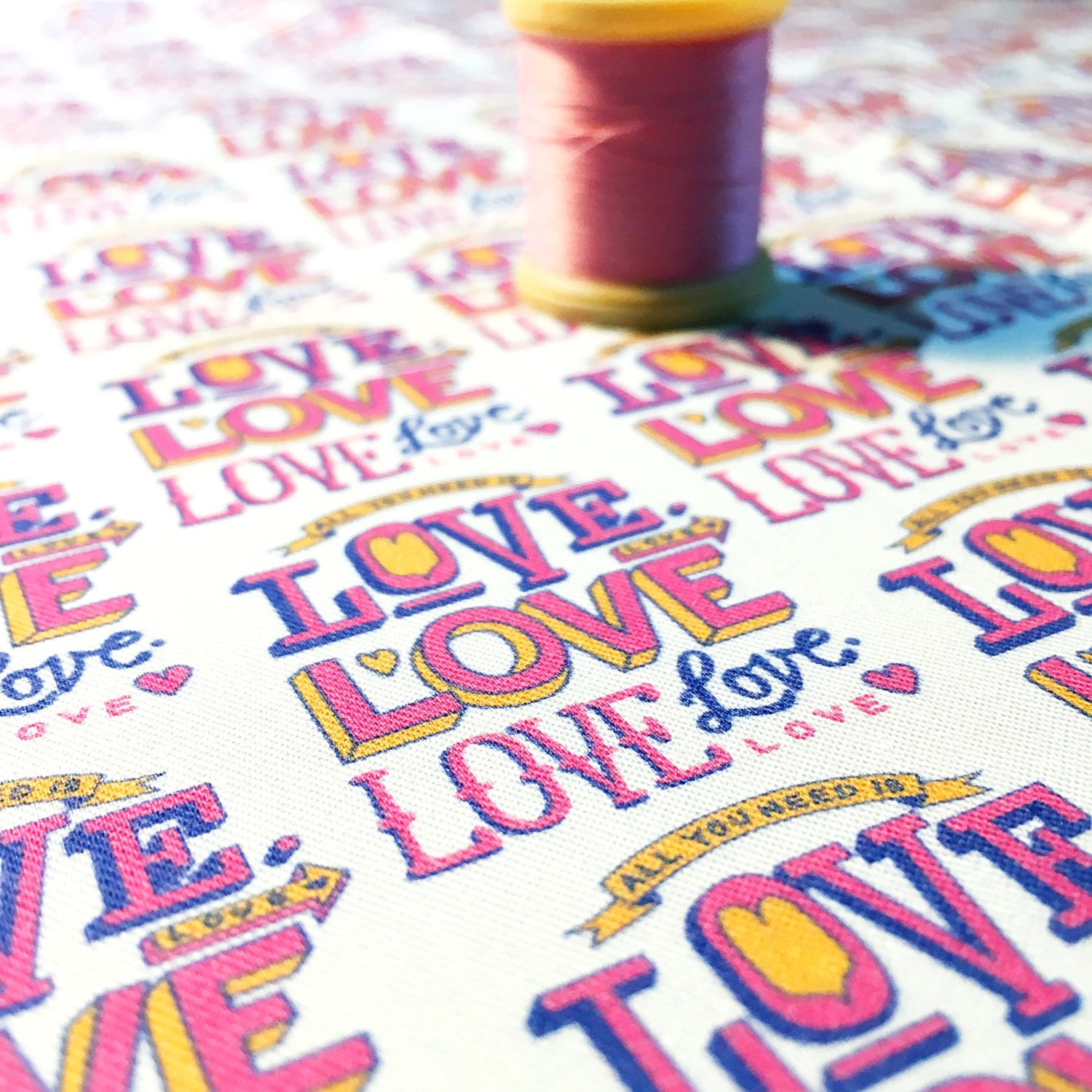 All you need is love fabric