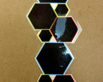 Colorful Bee Bookmark, laminated