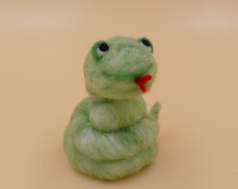 Snake, Felted Snake, Cute Snake, Needle-felted Gift, Woolfelt Gift, Chinese Zodiac, Soft Snake, Soft Sculpture