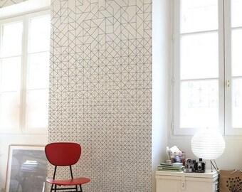 Geometric pattern vinyl wallpaper, self adhesive, temporary, removable nursery mb080